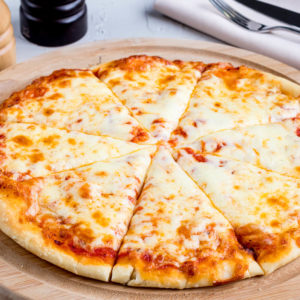 Classic cheese or create your own pizza. Sauce, mozzarella cheese, olive oil, parmesan